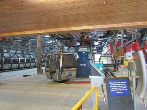 Scotland Ski Lift Gondola Aonach Mor Ski Cable Car