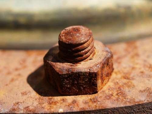 Screw Thread Nut Iron Metal Rust Connection