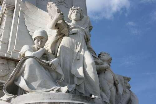 Sculpture White Statue Buckingham Palace Art