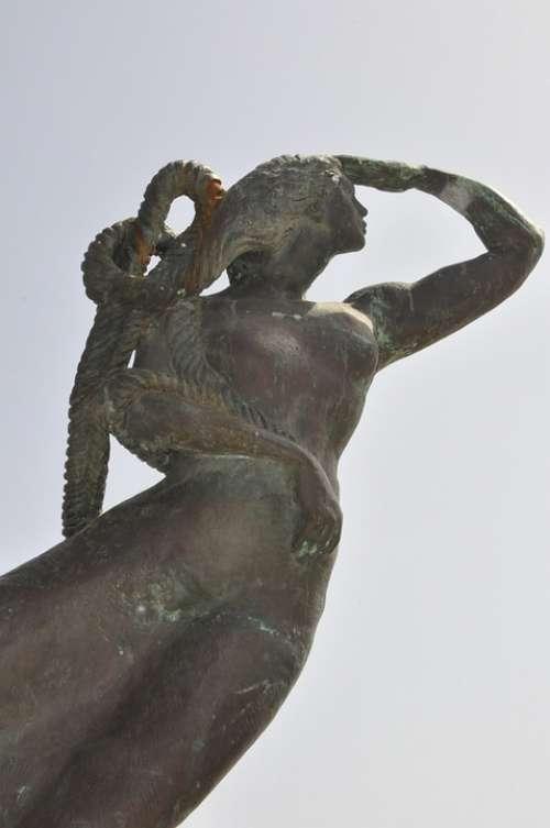 Sculpture The Statue Monument Woman
