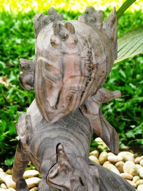 Sculpture Wood Princess Women