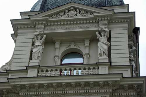 Sculpture Balcony Window Architecture