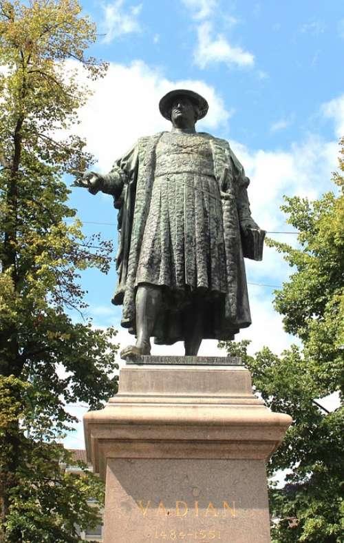 Sculpture Monument Landmark Bronze Vadian