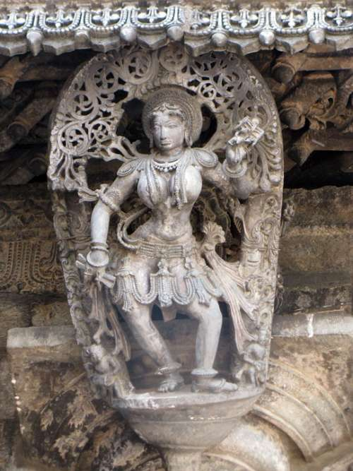 Sculpture Belur Carving Temple Religion