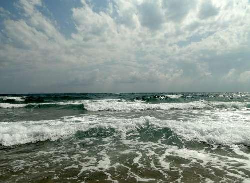 Sea Beach Ocean Water Sky Clouds Wave Cloud