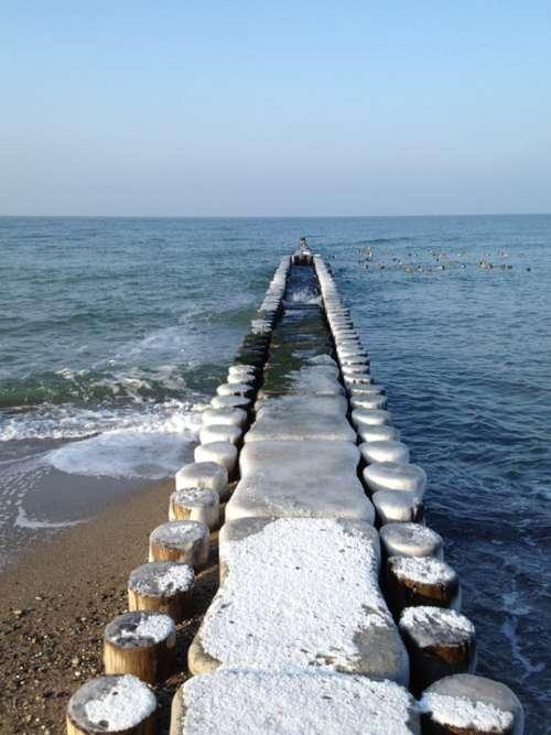 Sea Winter Icebreaker Snow