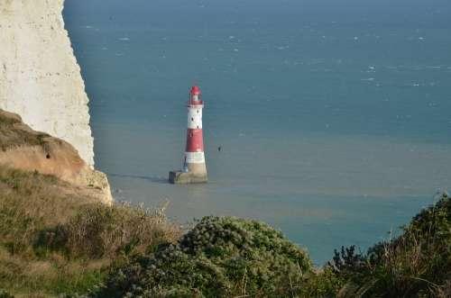 Sea Coast East Sussex Beachyhead Lighthouse
