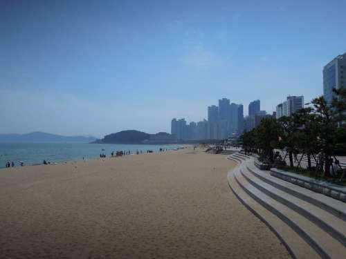 Sea Haeundae Beach Sandy