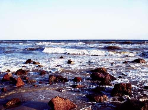 Sea Rocks Wave Shore Coast Ocean