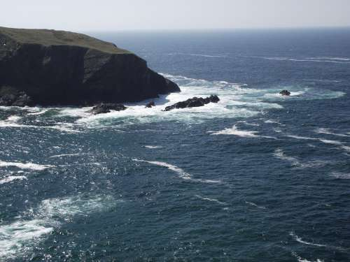 Sea Ocean Water Rocks Rock The Cliffs Landscape