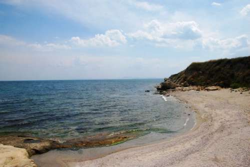 Sea Water Rock Rocks Landscape Nature Beach Sand