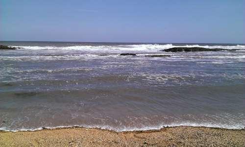 Sea Ocean Tide Beach Sand Water Sky Wave Waves