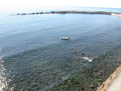 Sea Clear Boat Sun Summer Transparent Stones