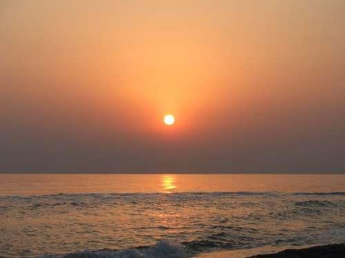 Sea Sun Nature Morning Water North Of Iran