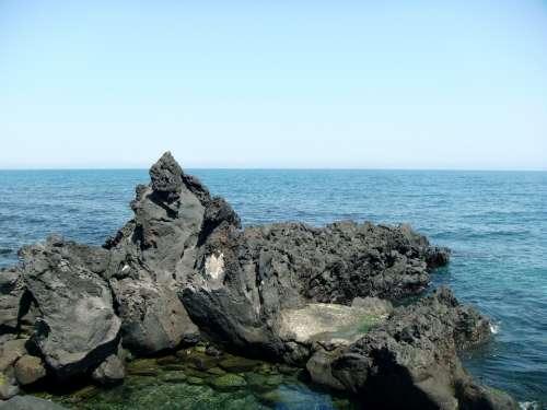 Sea Stone Basalt Lava Landscape