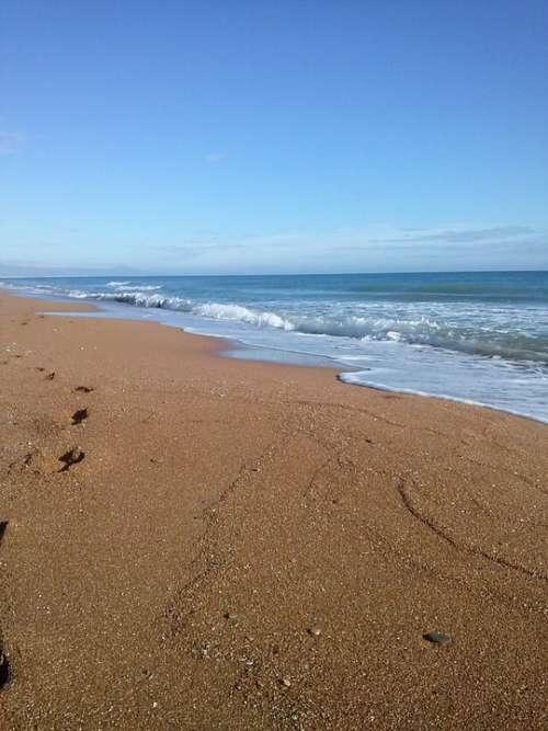 Sea Sand Mediterranean Beach Blue Landscape Denia