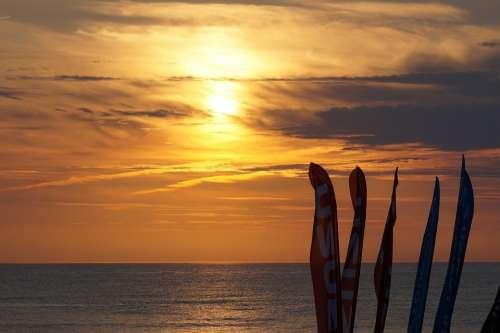 Sea Sylt Sunset Beach North Sea Clouds Summer