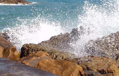 Sea Wave Surf Spray Foam Ocean