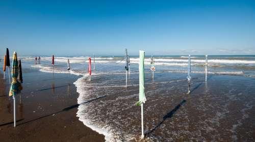 Sea Beach Umbrellas Summer Sand Holidays