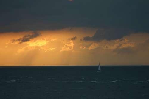 Sea Texel Island View Water Holiday Raincloud