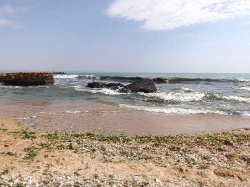 Sea Seaside Beach Water Rock Summer Coast Sand