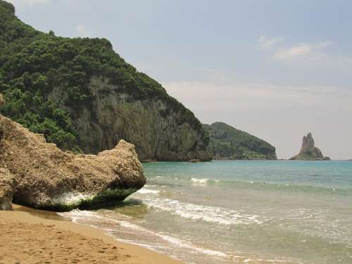 Sea Bay Corfu Greece Beach Vacations Sand