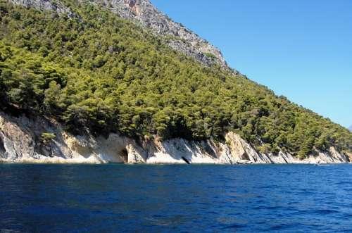 Sea Rock Blue Coastline Coast Shore Water