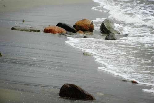 Sea Rocks Water Beach The Baltic Sea The Coast