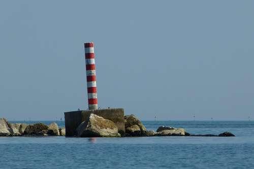 Sea Jadran Column Stripes Stones