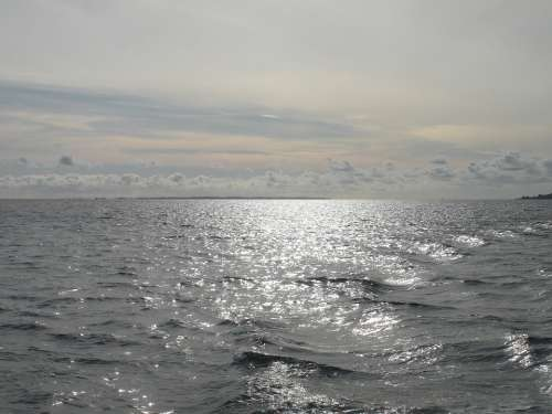 Sea Ocean Water Sky Reflections Peacefull Blue
