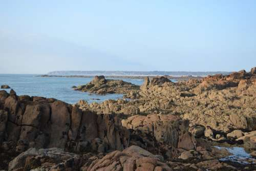 Sea View Jersey Rocks Rock Pools Coastline