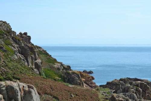Sea View Jersey Rocks Rock Pools Coastline