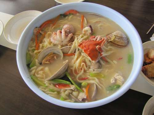 Seafood Noodles Daebudo Food Side Dishes Flour