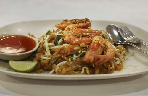 Seafood Prawns Shrimps Fried Roasted Food Meal