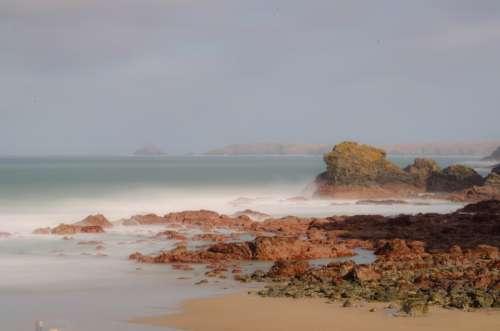 Seascape Sea Sand Beaches Waves Sky
