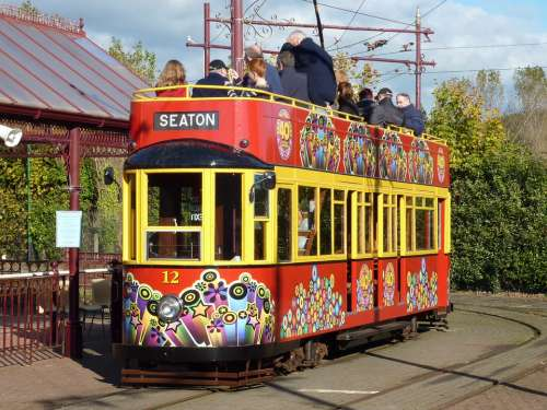 Seaton Devon Trolley England British English Uk