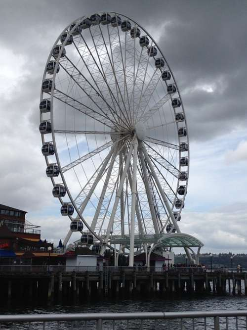 Seattle Ferris Wheel Northwest Washington Amusement