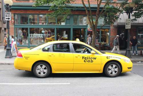 Seattle Taxis Yellow Car