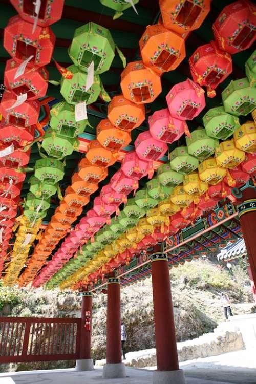 Section Lantern Temple Cheongpyeong Temple