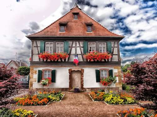 Seebach France House Home Architecture Flowers