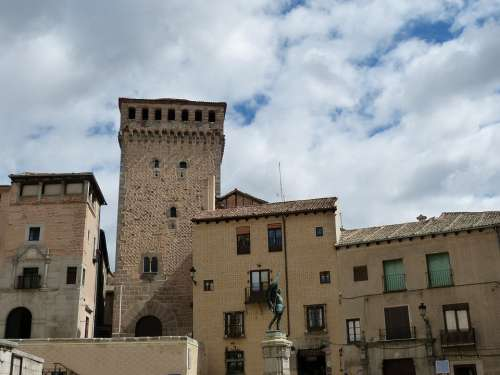 Segovia Spain Castile Historic Center Historically