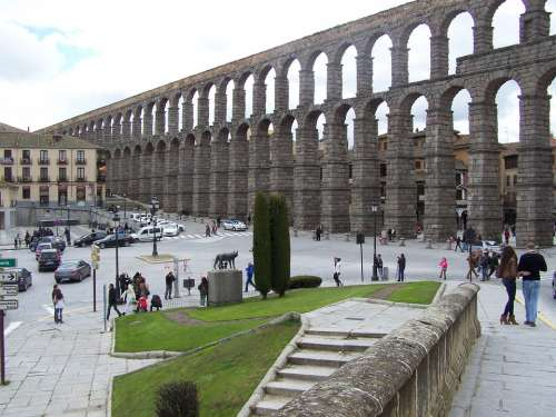 Segovia Aqueduct Azoguejo Monument Civil Works