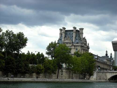 Seine Paris River France Architecture Building