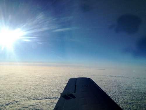 Selva Marine Wing Aircraft Flying Sky Blue