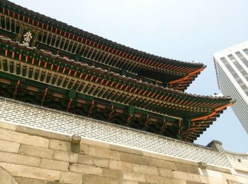 Seoul Namdaemun Mono Old Buildings