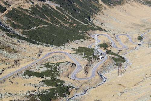 Serpentine Hairpin Turn Road Valley Curves