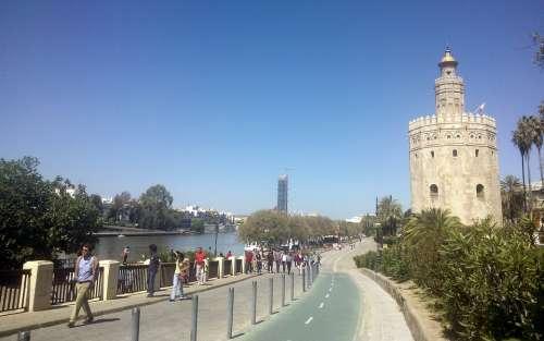 Seville River Gold Tower