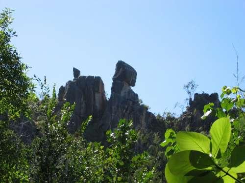 Seychelles Cliff Rock Landscape