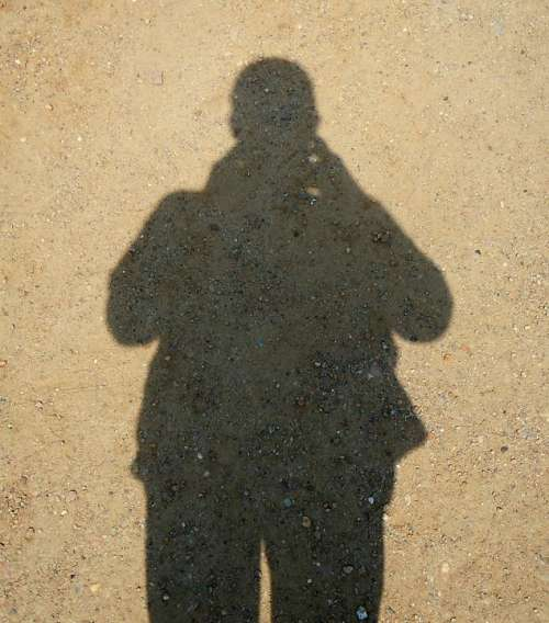 Shadow Human Silhouette Sandy Soil Hispanic