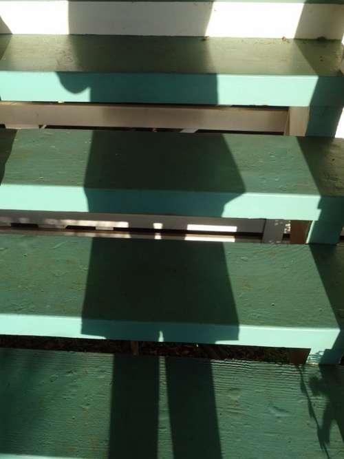 Shadow Stairs Gradually Light Staircase Human